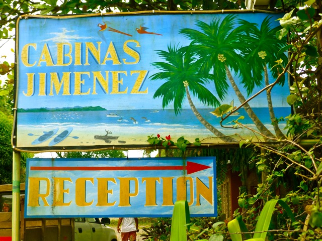 Cabinas Jimenez entrance to Corcovado National Park