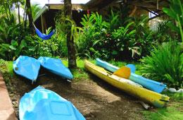 Free Kayak use at Cabinas Jimenez