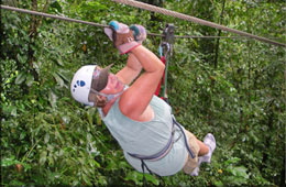 Canopy Zip Line Tours on the Osa Peninsula with Cabinas Jimenez
