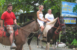 Go on a horseback riding trip around the Puerto Jimenez area